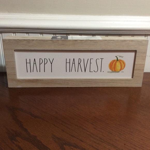 Rae Dunn HAPPY HARVEST Box Sign